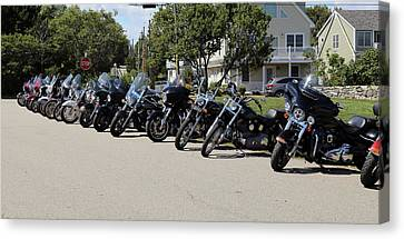 A Hog-n Good Time In New England Canvas Print by Imagery-at- Work