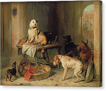 A Jack In Office Canvas Print by Sir Edwin Landseer