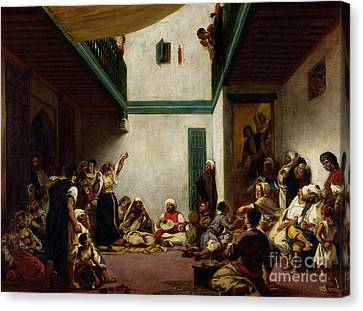 A Jewish Wedding In Morocco Canvas Print by Ferdinand Victor Eugene Delacroix
