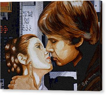 A Kiss From A Scoundrel Canvas Print by Al  Molina