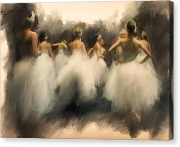 A Lamentation Of Swans Canvas Print by H James Hoff