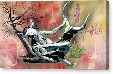A Life Long Battle To Stay Alive Canvas Print by Tai Taeoalii