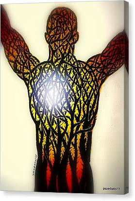 A Light In The Midst Of So Much Suffering Canvas Print by Paulo Zerbato
