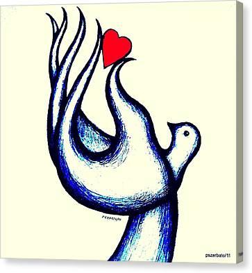 A Little Love Canvas Print by Paulo Zerbato
