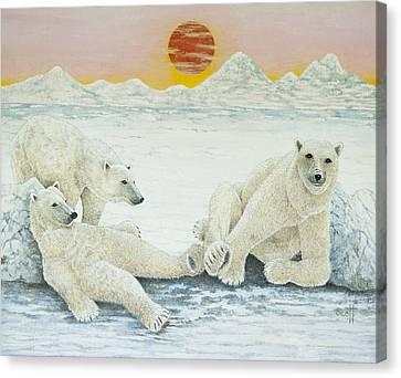 A Long Days Night Canvas Print by Pat Scott