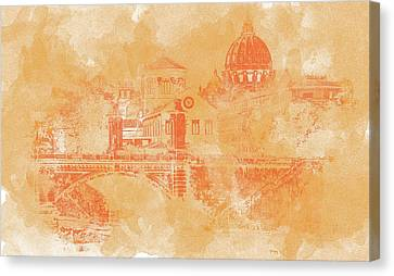 A Look At History - Rome Canvas Print by Andrea Mazzocchetti