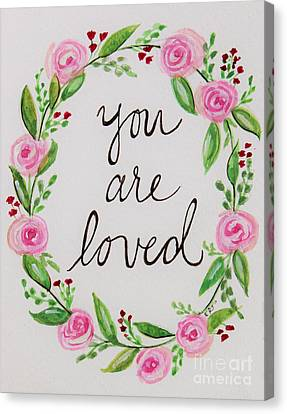 A Love Note Canvas Print by Elizabeth Robinette Tyndall