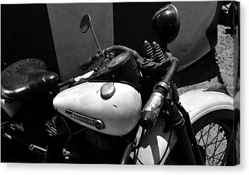 A Mans Harley Canvas Print by David Lee Thompson