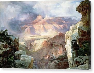 A Miracle Of Nature Canvas Print by Thomas Moran