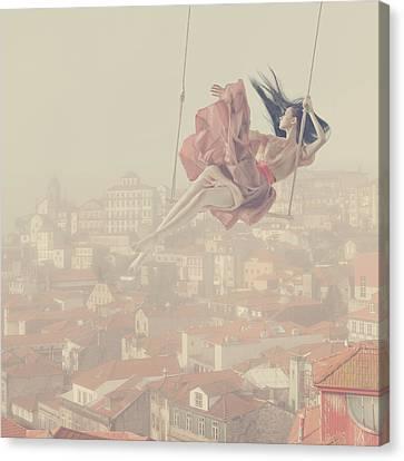 a morning over Oporto Canvas Print by Anka Zhuravleva