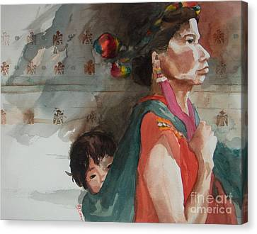 A Mother's Resolve Canvas Print by Elizabeth Carr