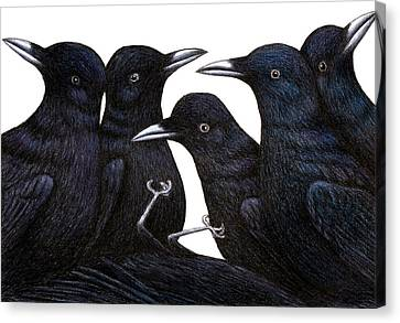 A Murder Of Crows Canvas Print by Don McMahon