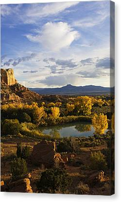 A Peaceful Landscape Stretches Canvas Print by Ralph Lee Hopkins