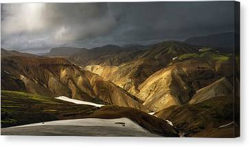 A Piece Of Laugavegur Canvas Print by Tor-Ivar Naess