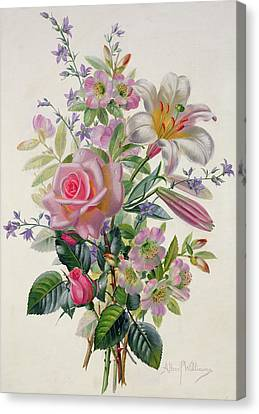 A Pink Bouquet Canvas Print by Albert Williams