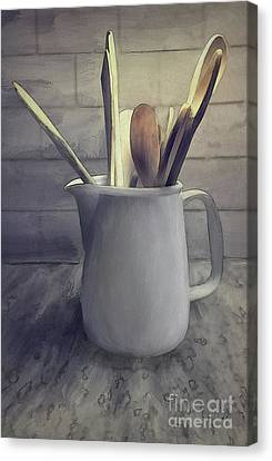 A Pitcher Of Spoons Canvas Print by Lois Bryan
