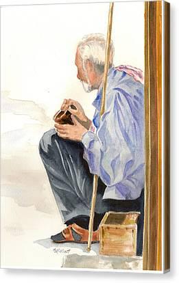 A Poor Man's Plight Canvas Print by Marsha Elliott