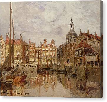 A Port Canvas Print by Frank Myers Boggs