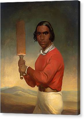 A Portrait Of Nannultera - A Young Poonindie Cricketer  Canvas Print by Mountain Dreams