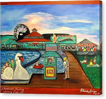 A Postcard Memory Canvas Print by Patricia Arroyo