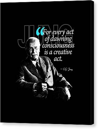 A Quote From Carl Gustav Jung Quote #1 Of 50 Available Canvas Print by Garaga Designs