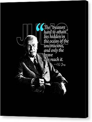 A Quote From Carl Gustav Jung Quote #12 Of 50 Available Canvas Print by Garaga Designs