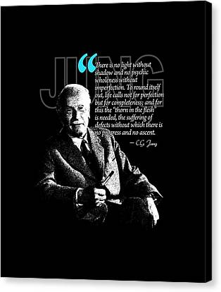 A Quote From Carl Gustav Jung Quote #21 Of 50 Available Canvas Print by Garaga Designs