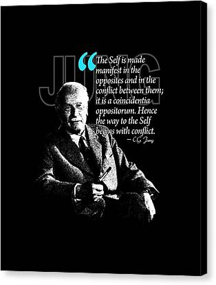 A Quote From Carl Gustav Jung Quote #22 Of 50 Available Canvas Print by Garaga Designs