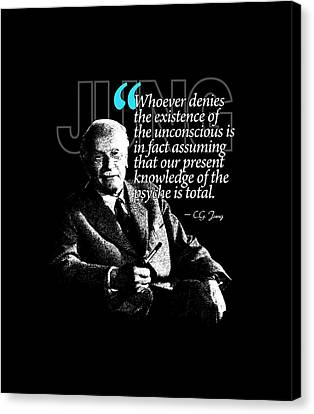 A Quote From Carl Gustav Jung Quote #23 Of 50 Available Canvas Print by Garaga Designs
