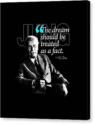 A Quote From Carl Gustav Jung Quote #29 Of 50 Available Canvas Print by Garaga Designs