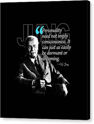 A Quote From Carl Gustav Jung Quote #37 Of 50 Available Canvas Print by Garaga Designs