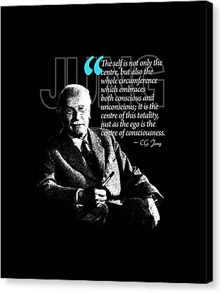 A Quote From Carl Gustav Jung Quote #4 Of 50 Available Canvas Print by Garaga Designs