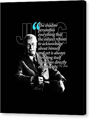 A Quote From Carl Gustav Jung Quote #42 Of 50 Available Canvas Print by Garaga Designs