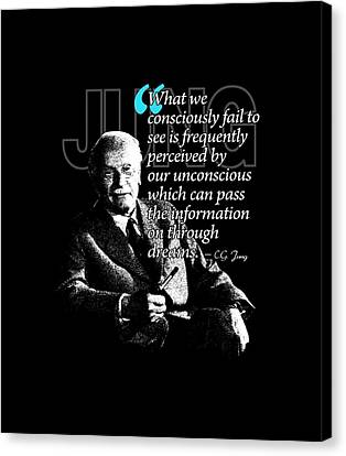 A Quote From Carl Gustav Jung Quote #45 Of 50 Available Canvas Print by Garaga Designs