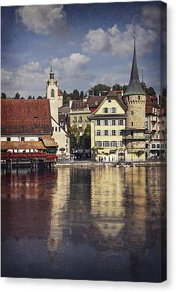 A Reflection Of Lucerne Canvas Print by Carol Japp