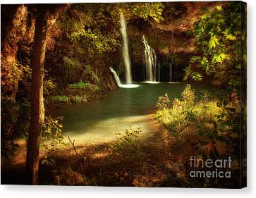 A Resting Place At Dripping Springs Canvas Print by Tamyra Ayles