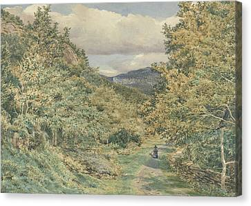 A Road Near Bettws Y Coed Canvas Print by George Price Boyce