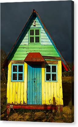 A Rustic Colorful House Canvas Print by Jess Kraft