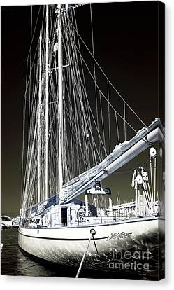 A Sailboat In Marseille Canvas Print by John Rizzuto