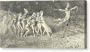 A Scarecrow Canvas Print by Charles Altamont Doyle