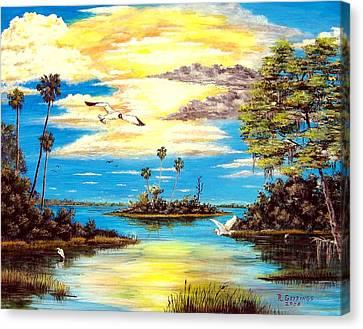 A Secret Place Canvas Print by Riley Geddings