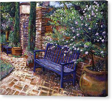 A Shady Resting Place Canvas Print by David Lloyd Glover