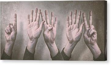 A Show Of Hands Day 197 Canvas Print by Scott Norris