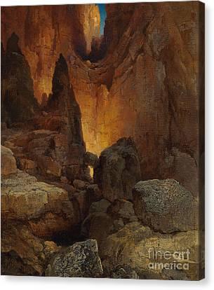 A Side Canyon, Grand Canyon Of Arizona Canvas Print by Thomas Moran