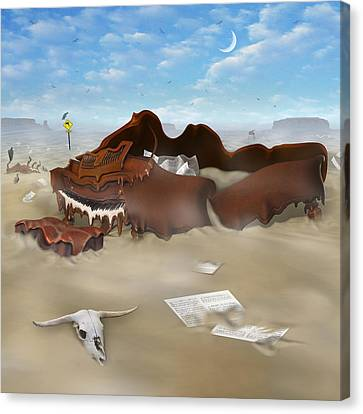 A Slow Death In Piano Valley Sq Canvas Print by Mike McGlothlen