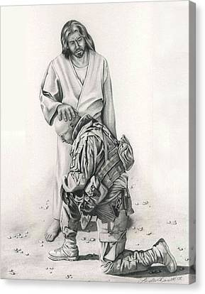 A Soldier's Prayer Canvas Print by Linda Bissett