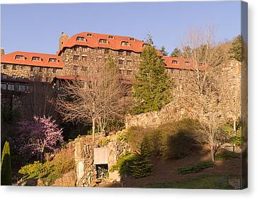 A Spring Evening At The Grove Park Inn Canvas Print by MM Anderson