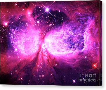 A Star Is Born Pink Purple Canvas Print by Johari Smith