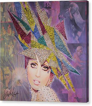 A Star Is Born This Way Canvas Print by Stapler-Kozek