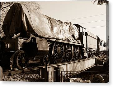 A Steam Train Under The Covers Canvas Print by Steven Sexton